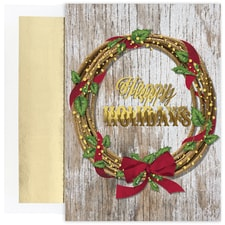 Lasso Wreath Warmest Wishes Boxed Holiday Card