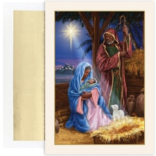 Holy Family In Stable Holiday Collection Petites Boxed Holiday Card