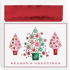 Snowflake Tree Trio Holiday Collection Boxed Holiday Card