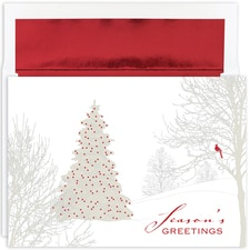 Winter Treeline Holiday Collection Boxed Holiday Card