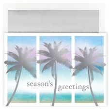 Tropical Palms Warmest Wishes Boxed Holiday Card