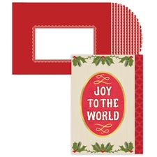 Joy To The World Holly Season's Sentiments Boxed Holiday Card