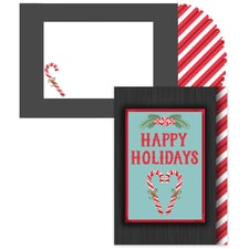 Candy Cane Twist Season's Sentiments Boxed Holiday Card