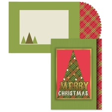 Triangle Tree Season's Sentiments Boxed Holiday Card