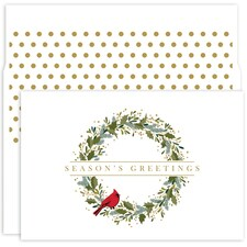 Petite Wreath Holiday Collection Petites Boxed Holiday Card