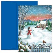 Snowfall Hollyville Boxed Holiday Card