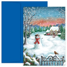Snowfall Hollyville Boxed Holiday Card