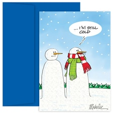 Cold Snowman Holiday Collection Boxed Holiday Card