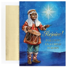 Drummer Boy Holiday Collection Petites Boxed Holiday Card