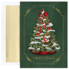 Snowy Tree Holiday Collection Boxed Holiday Card