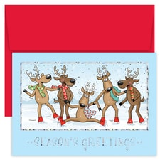 Dancing Reindeer Holiday Collection Boxed Holiday Card
