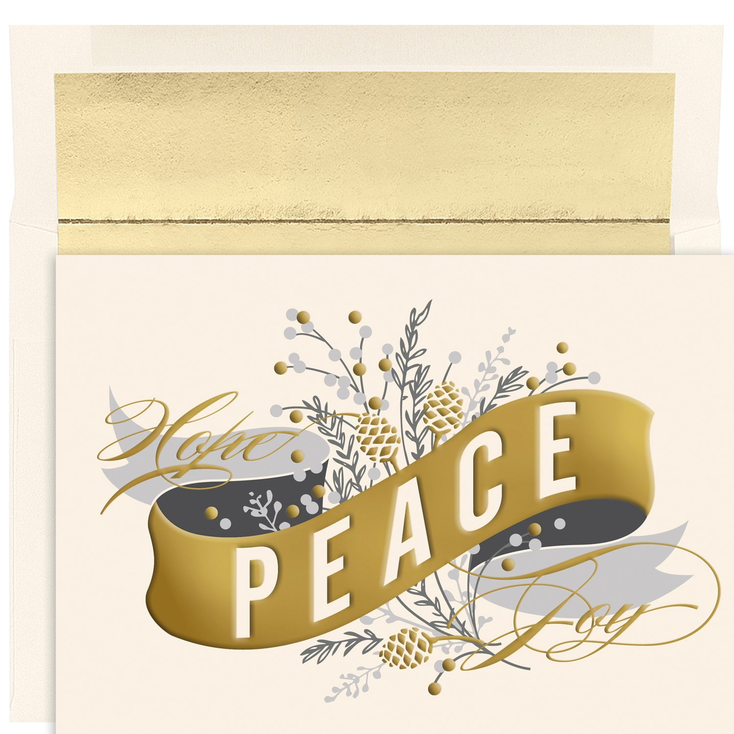 Peace Banner Holiday Collection Boxed Holiday Cards Fine Impressions