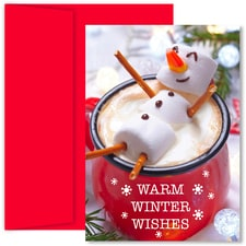Marshmallow Snowman Holiday Collection Boxed Holiday Cards