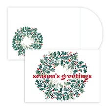 Wreath Laser cut. Holiday Collection Boxed Holiday Cards