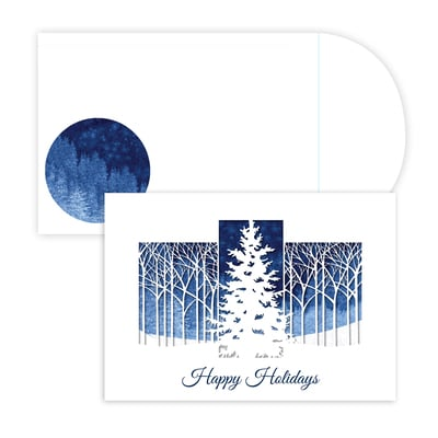 Winter Woods Laser cut. Holiday Collection Boxed Holiday Cards