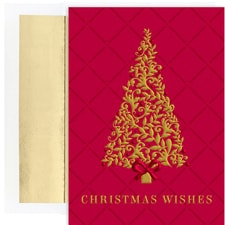 Burgundy Tree Holiday Collection Boxed Holiday Cards