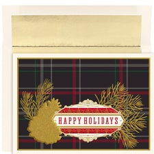 Classic Plaid Holiday Collection Boxed Holiday Cards