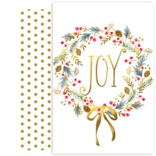 Joy Wreath Holiday Collection Petites Boxed Holiday Cards