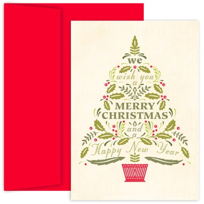 Word Tree Hollyville Boxed Holiday Cards