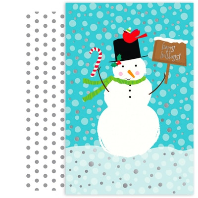 Candy Cane Snowman Holiday Collection Petites Boxed Holiday Cards