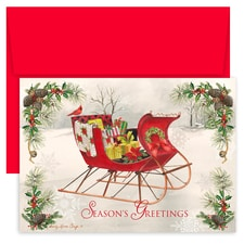 County Sleigh Holiday Collection Boxed Holiday Cards