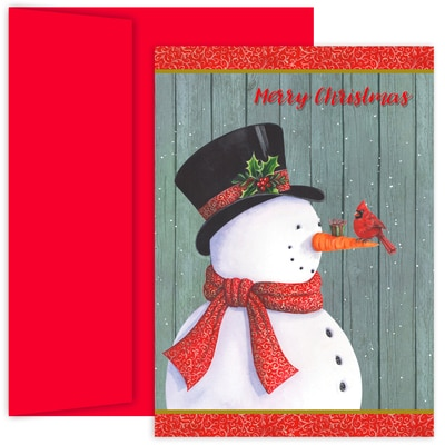 Classy Snowman Hollyville Boxed Holiday Cards