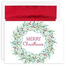 Simple Wreath Holiday Collection Boxed Holiday Cards