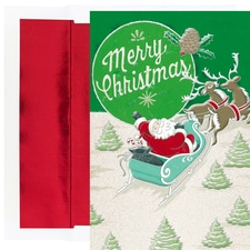 Vintage Santa Holiday Collection Boxed Holiday Cards