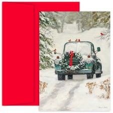 Classic Holiday Car Hollyville Boxed Holiday Cards