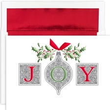 Joy Ornaments Holiday Collection Boxed Holiday Cards