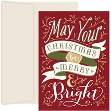 Merry & Bright Holiday Collection Boxed Holiday Cards