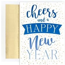 Cheers to the New Year! Holiday Collection Boxed Holiday Cards