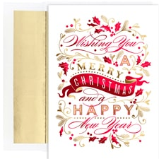 Christmas Banner Holiday Collection Boxed Holiday Cards