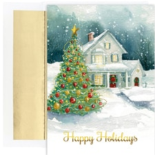 Winter Cottage Holiday Collection Boxed Holiday Cards