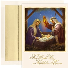 Holy Family In Stable Holiday Collection Boxed Holiday Cards