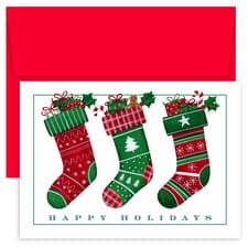 Stocking Trio Holiday Collection Boxed Holiday Cards