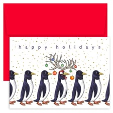 Silly Penguins Holiday Collection Petites Boxed Holiday Cards