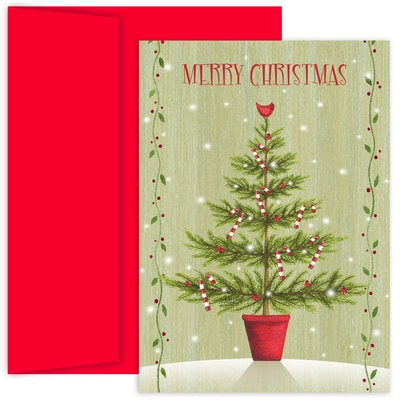 Country Tree Hollyville Boxed Holiday Cards