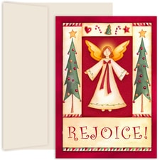 Folk Angel Hollyville Boxed Holiday Cards