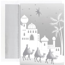 Silver Wisemen Holiday Collection Boxed Holiday Cards