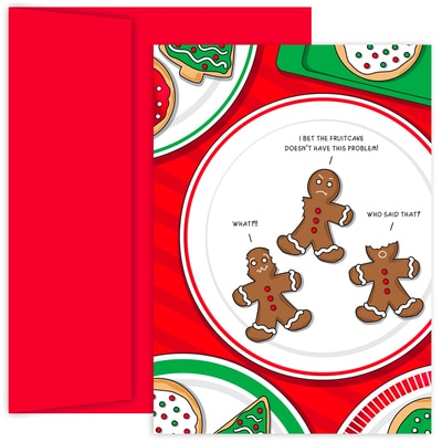 Gingerbread Men Holiday Collection Petites Boxed Holiday Cards