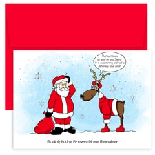 Stylish Reindeer Holiday Collection Petites Boxed Holiday Cards
