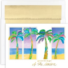 Palm Trio Warmest Wishes Boxed Holiday Cards