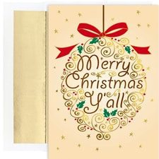 Merry Christmas Y'all Warmest Wishes Boxed Holiday Cards