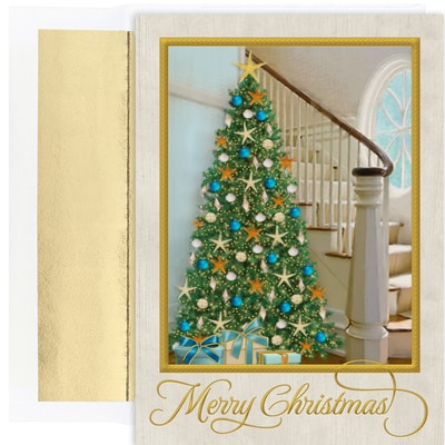 Coastal Tree Warmest Wishes Boxed Holiday Cards