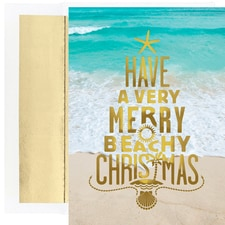 Merry Beachy Christmas Warmest Wishes Boxed Holiday Cards
