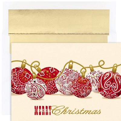 Bandana Ornaments Warmest Wishes Boxed Holiday Cards