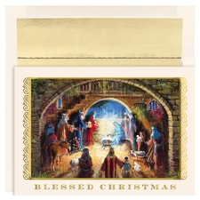 Blessed Nativity Holiday Collection Boxed Holiday Cards