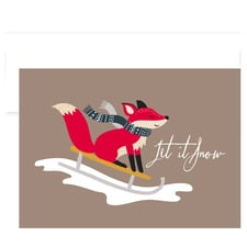 Fox Sledding Holiday Collection Boxed Holiday Cards