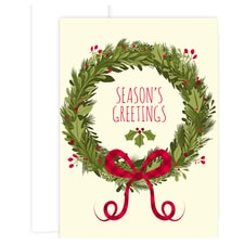 Floral Wreath Holiday Collection Boxed Holiday Cards